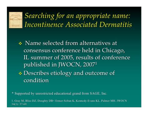 Incontinence Associated Dermatitis by Prof Dr Mikel Gray
