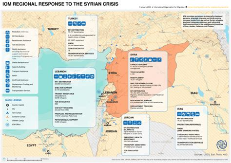 IOM regional response to the Syrian crisis - Map, 09