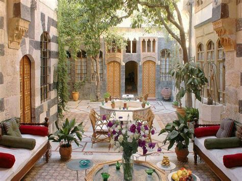 the beauty of the old arabic houses in damascus - Syria