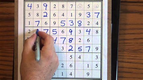How to Solve Easy Sudoku Puzzles - YouTube