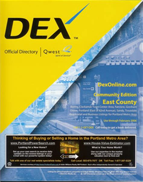 STUMPTOWNBLOGGER: DEX YELLOW PAGES GOES B